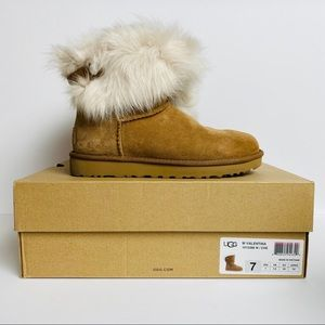 UGG Valentina Toscana Bling Suede Cuff-Boot Size 7